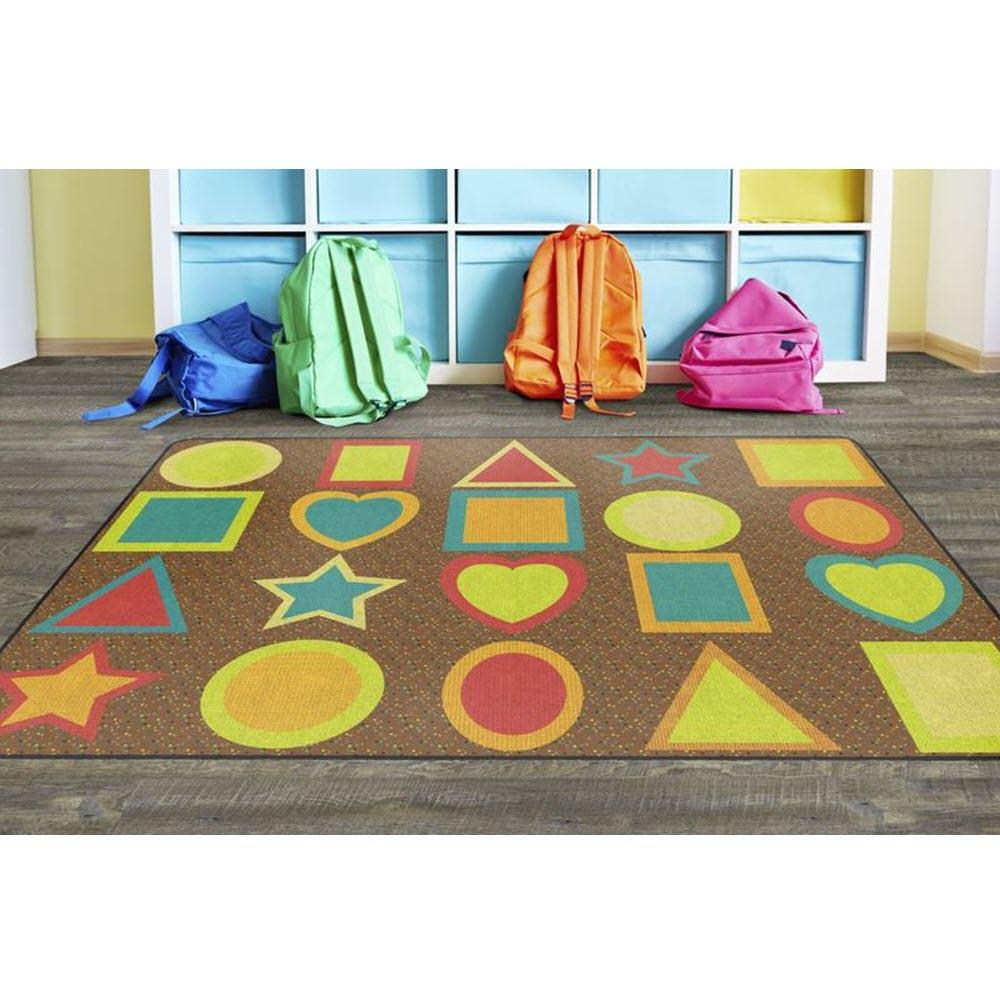 All Kinds Of Shapes Muted Seating Rug