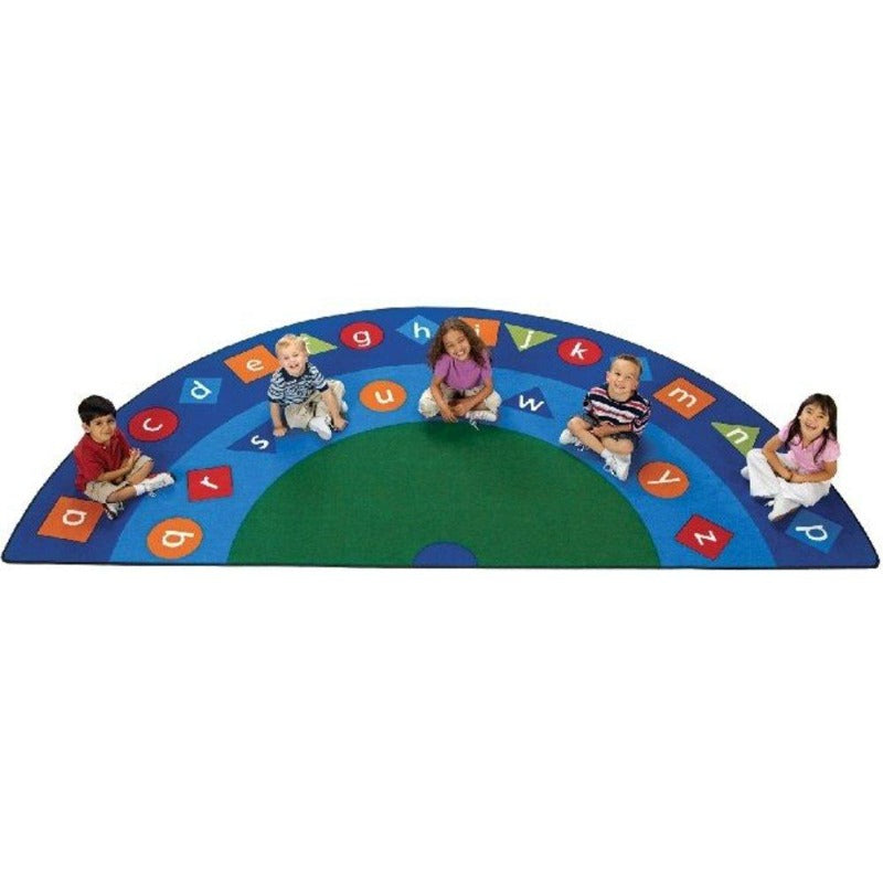 Alpha Shapes Semi Circle Seating Rug - Carpets for Kids