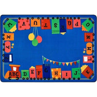Alphabet Fun Train Factory Second Rug
