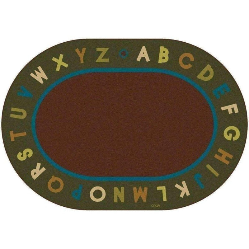 Alphabet Natures Color Oval Rug Factory Second