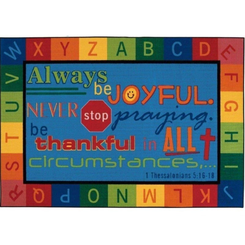 Always be Joyful Circle Time Factory Second Rug