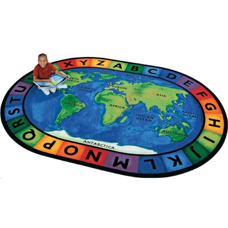 Around the World Oval Rug