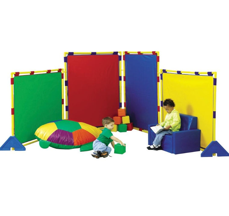 Big Screen Rainbow Play Panel Divider Set w/ Feet & Connector Clips