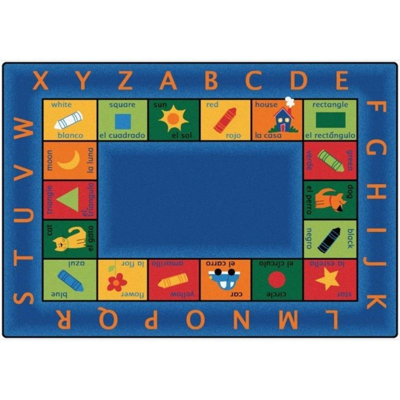 Bilingual Alphabet Rug