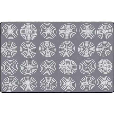 Circles Gray & White Area Rug