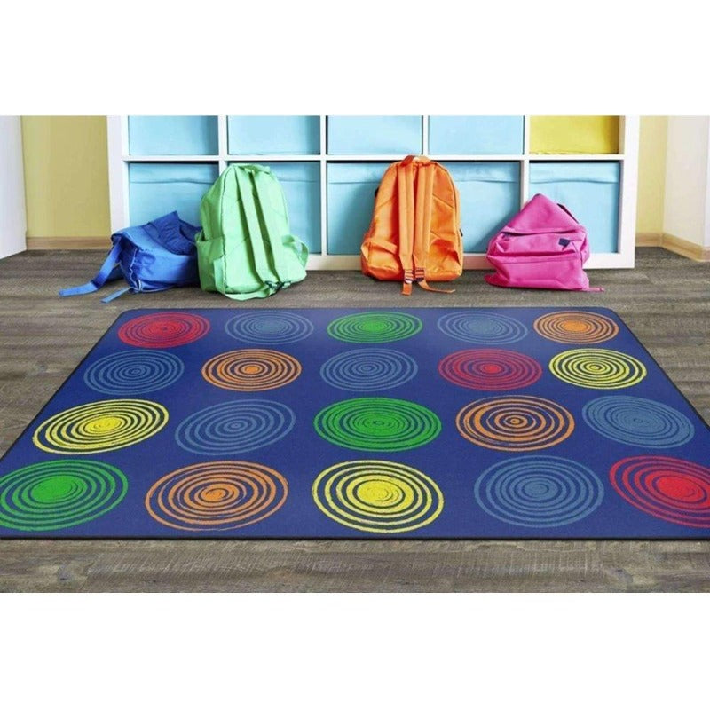 Circles Primary Seating Area Rug