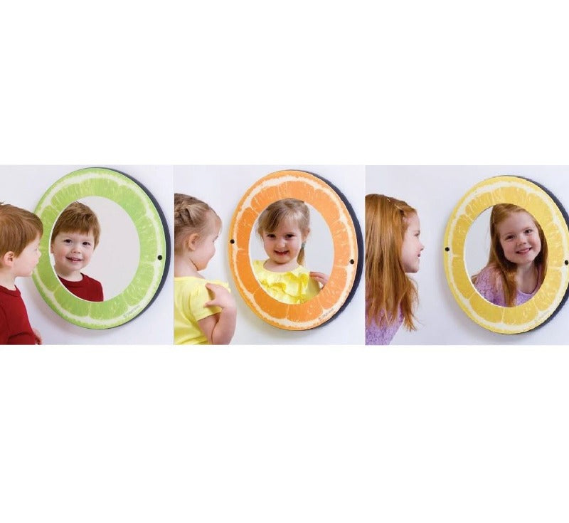 Citrus Fun Mirrors Waiting Area Wall Set