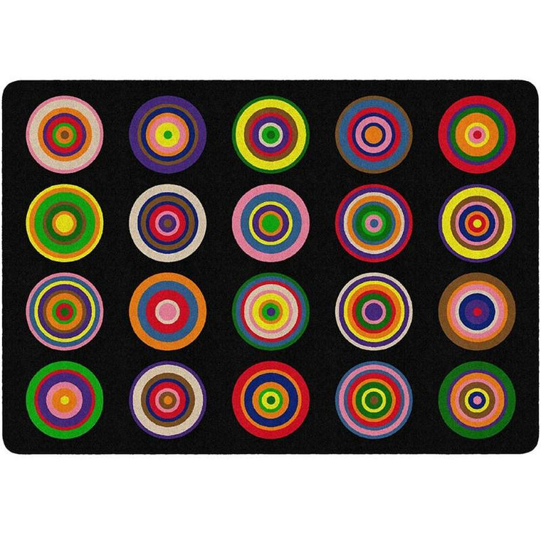 Color Rings Seating Rug
