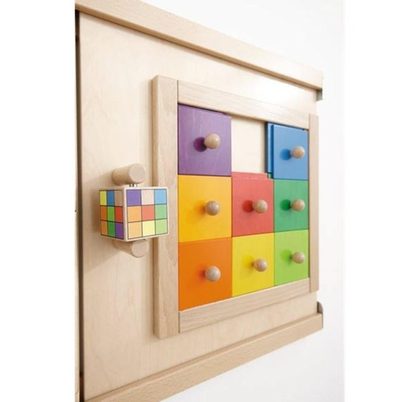 Colorful Squares Wall Panel Toy