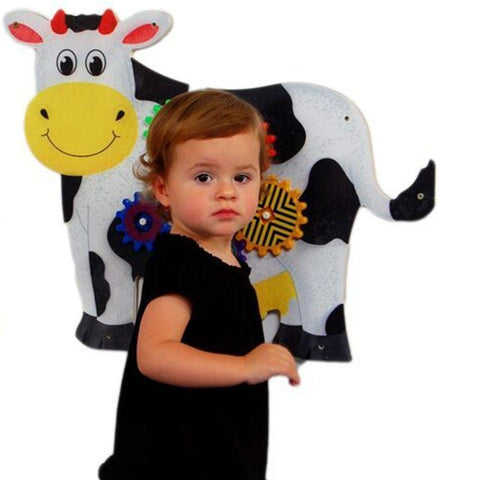 Cow Wall Panel Gears Toy