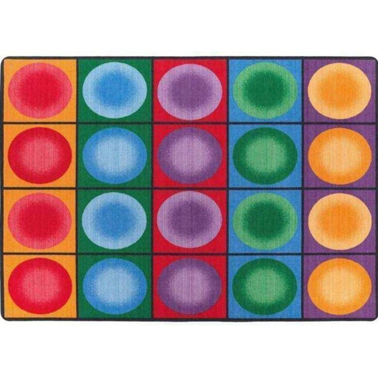 Dot Spots Classroom Seating Rug