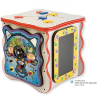 Exploration Island Activity Cube