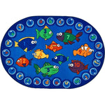 Fishing for Literacy Oval Rug