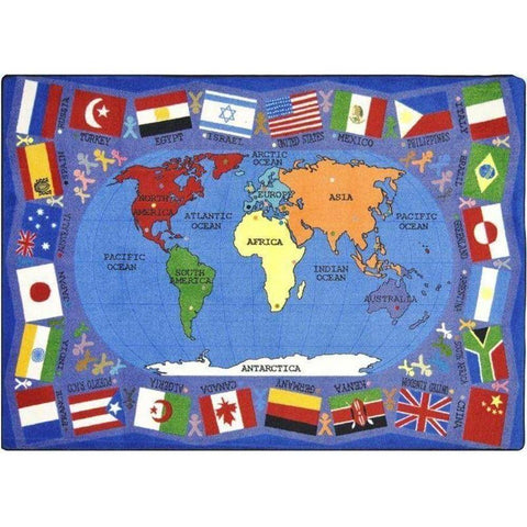 Flags of the World Classroom Rectangle Rug