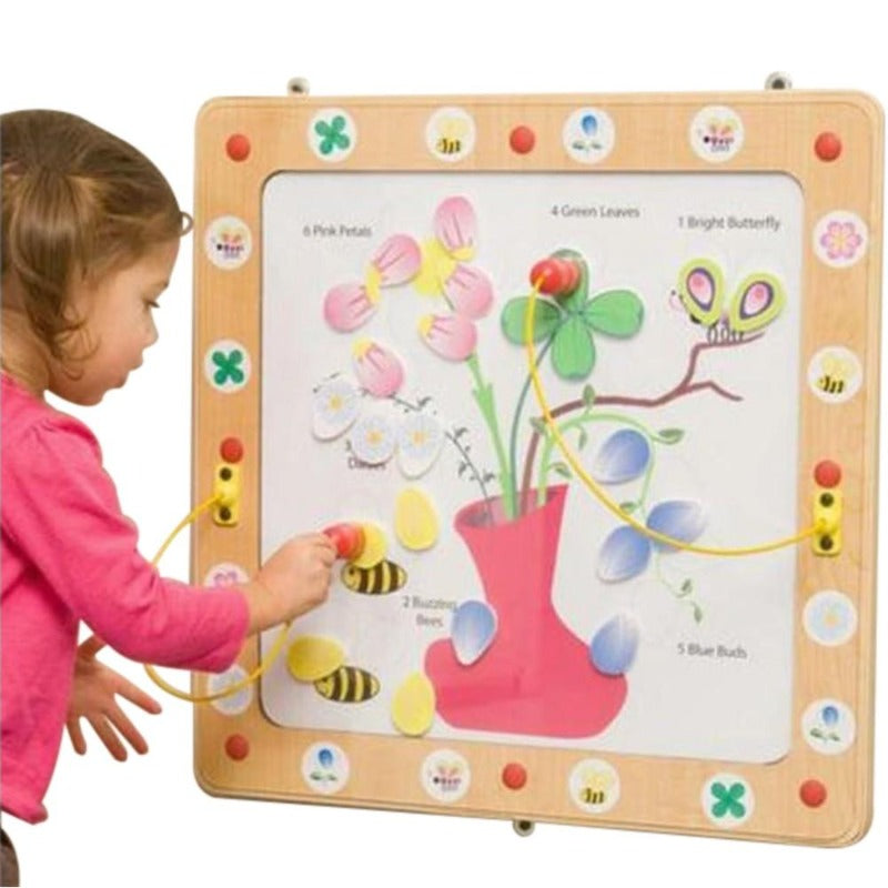 Flowers and Bees Magnetic Wall Activity