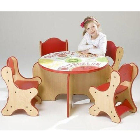Fresh Fruit Table & 4 Chairs Set