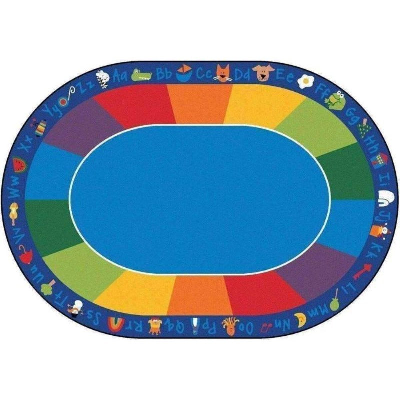 Fun with Phonics Factory Second Rug 8'3 x 11'8 Oval