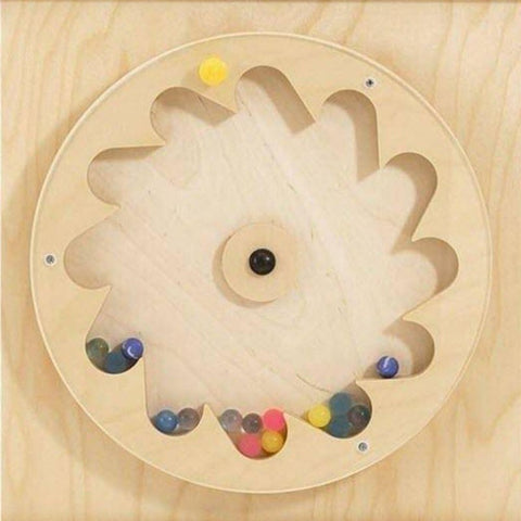Gear Wheel with Rubber Balls Sensory Wall Panel
