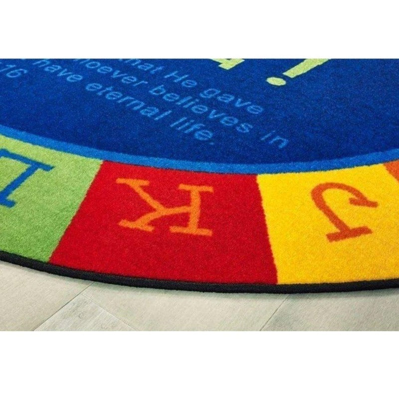God is Love Learning Oval Rug