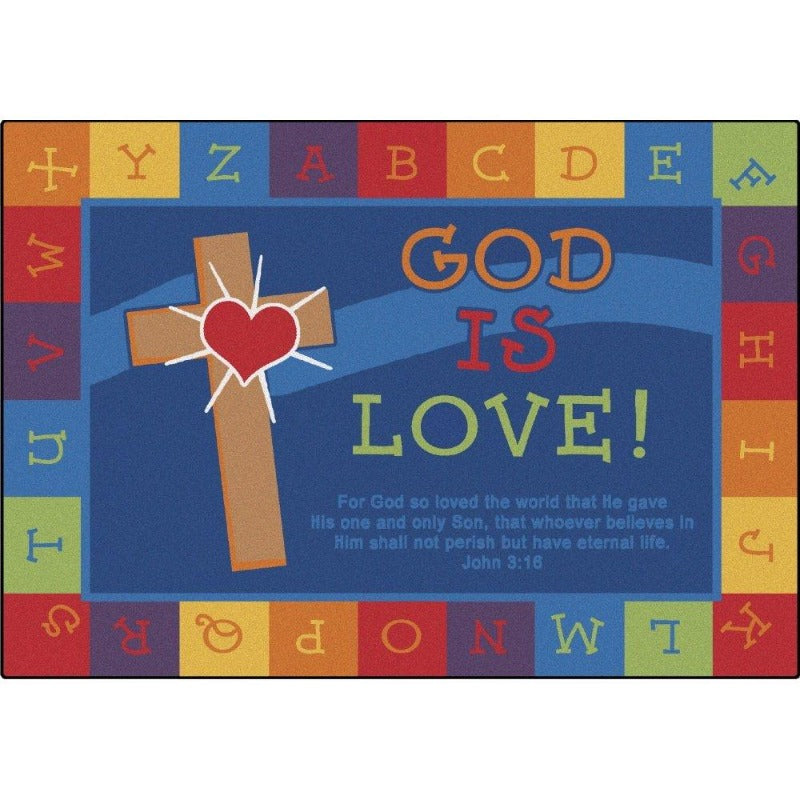 God is Love Learning Value Line Plus Rug