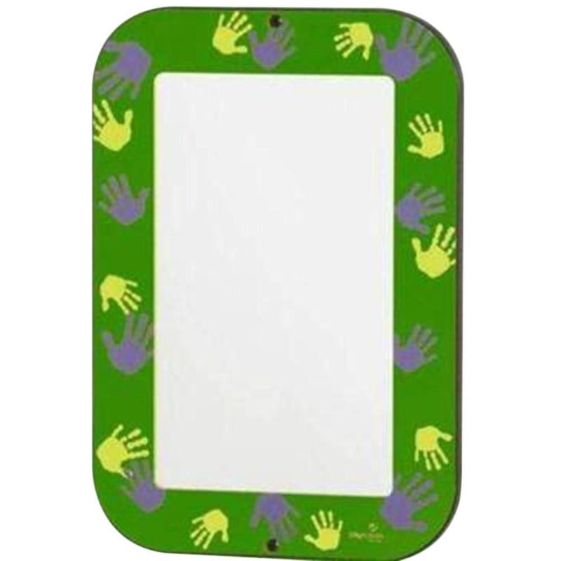 Green Hands-On Acrylic Wall Mirror