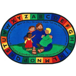 Jesus Loves the Little Children Oval Rug - Factory Second