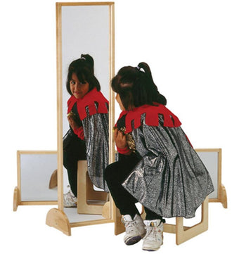Jonti-Craft Acrylic Mirror with Wood Frame and Feet