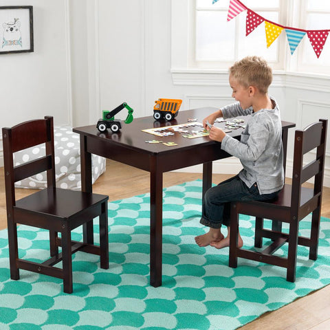 KidKraft Espresso Rectangle Table & 2 Chair Set