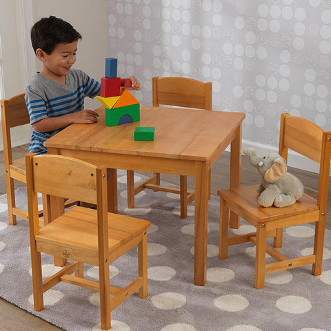 KidKraft Farmhouse Table with Four Chairs