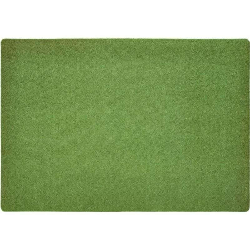 KIDply Solid Color Grass Green Area Rug