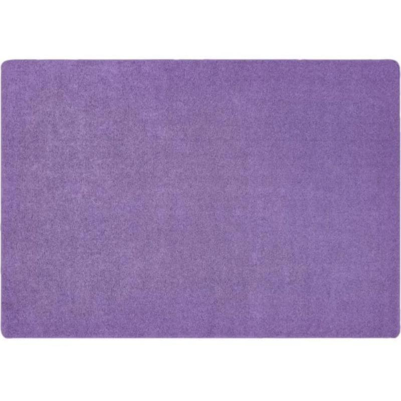 KIDply Solid Color Lilac Area Rug