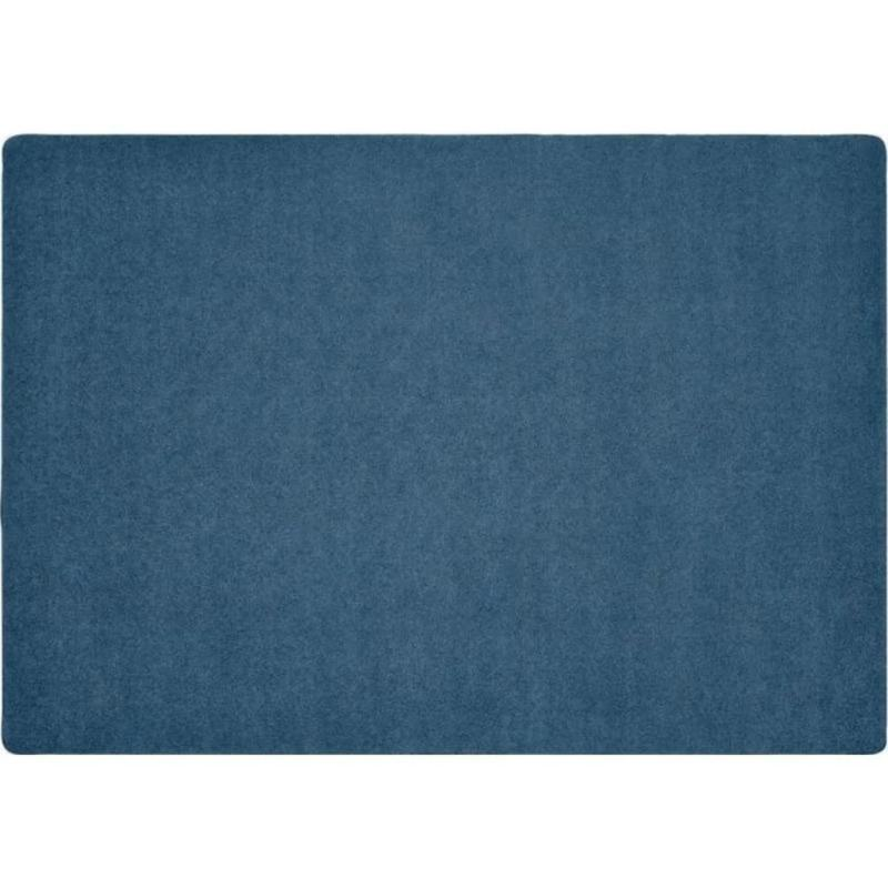 KIDply Solid Color Denim Area Rug