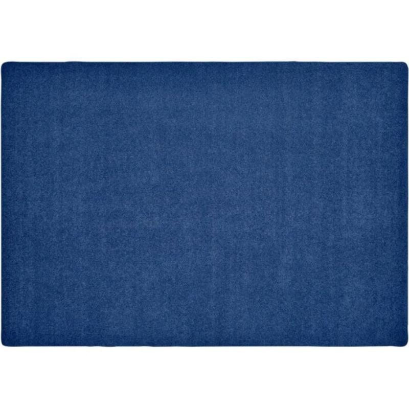 KIDply Solid Color Midnight Blue Area Rug