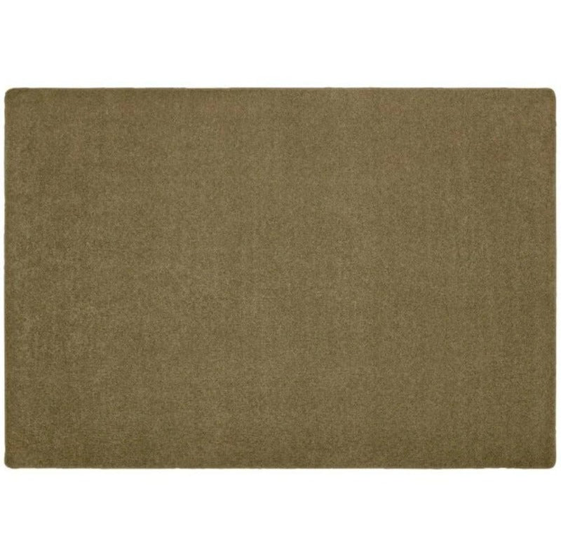 KIDply Solid Color Brown Sugar Area Rug