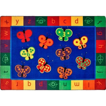 KIDSoft 123 ABC Butterfly Fun Rug