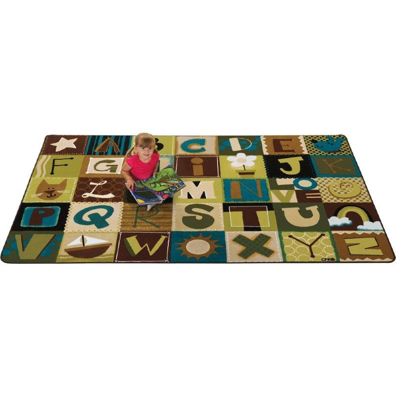 KIDSoft Alphabet Blocks Nature Rug