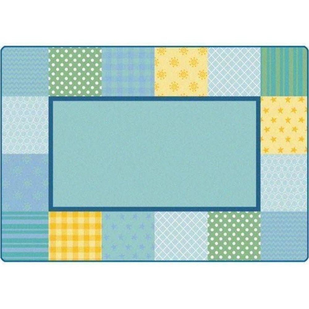 KIDSoft Pattern Blocks Soft Rug