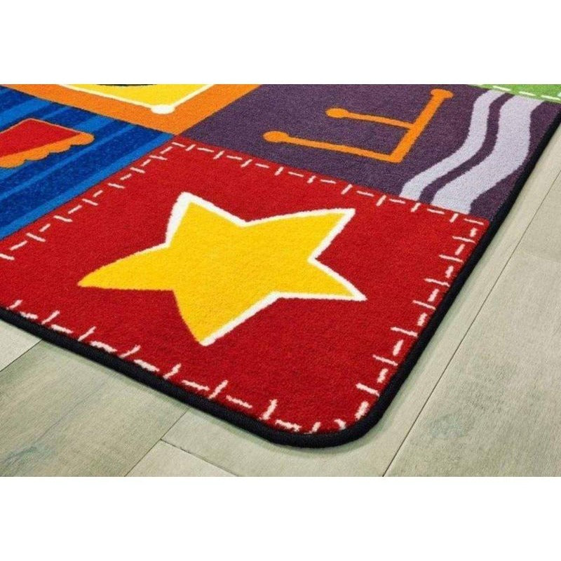 KIDSoft Toddler Alphabet Blocks Rug