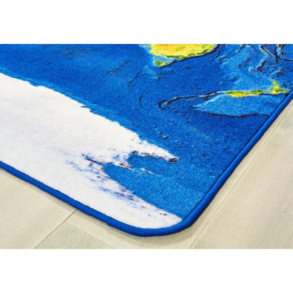 Learn Our Earth Map Rug