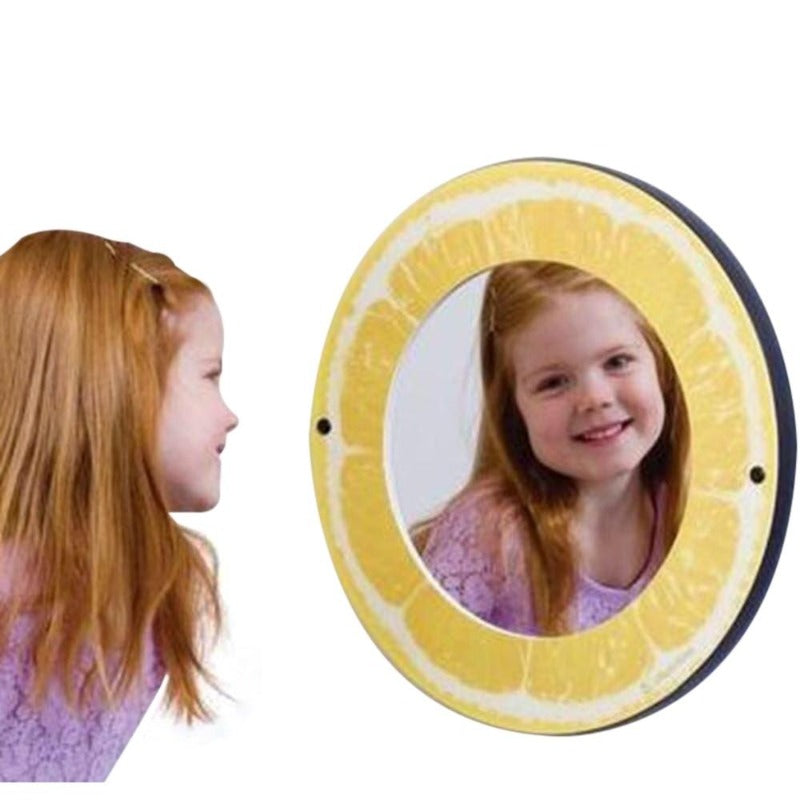Lemon Theme Wall Mirror
