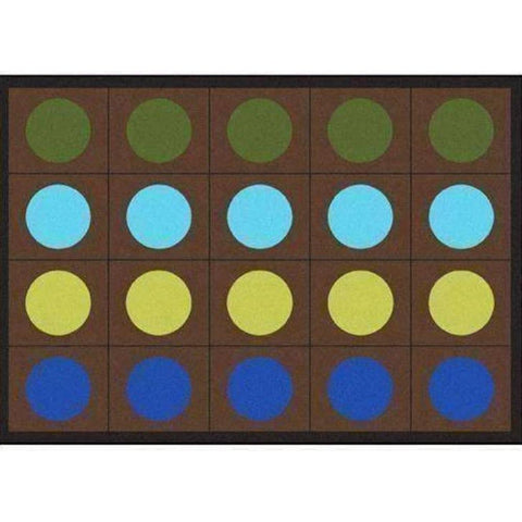 Lots of Dots Earthtones Seating Rug 5'4 x 7'8 - 20 Dots