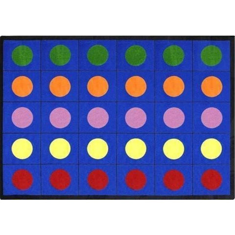 Lots of Dots Seating Rug 7'8 x 10'9