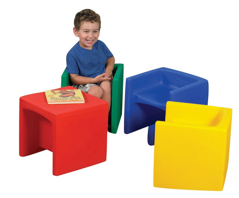 Molded Children's Cube Chairs - Set of 4