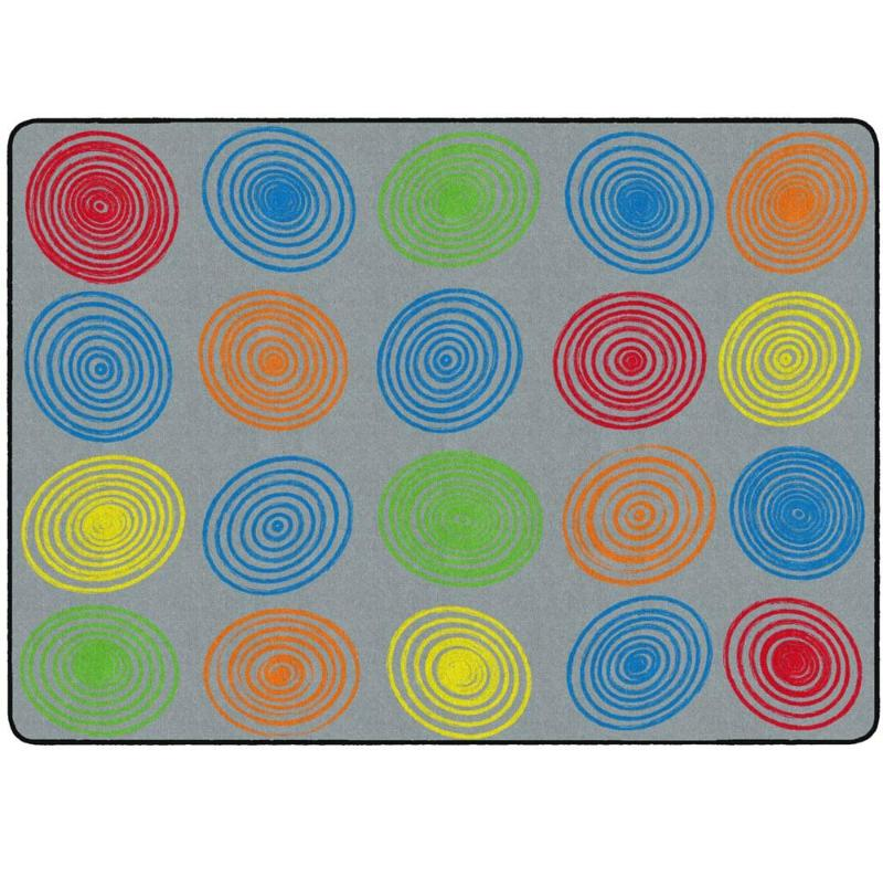 Multi-Color Circles Seating Rug