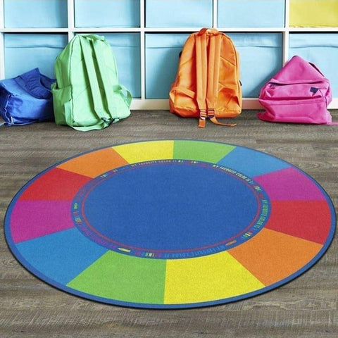 My Favorite Color Round Rug 6'