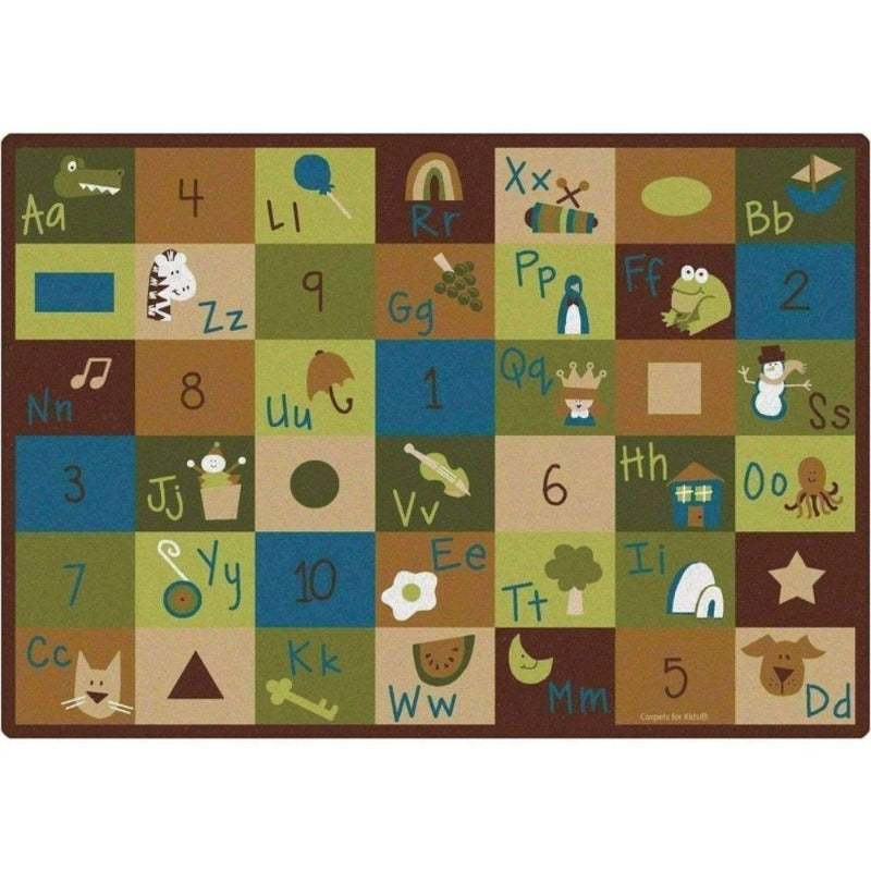 Natures Colors Learning Blocks Factory Second Rug