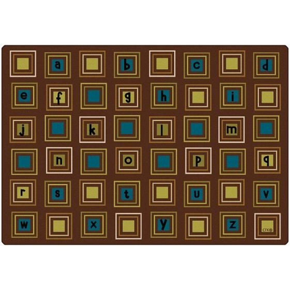 Natures Colors Literacy Squares Rug