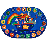 Noah's Voyage Oval Rug Factory Second