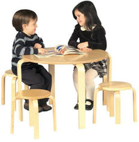 Nordic Table & Stool Set for Children