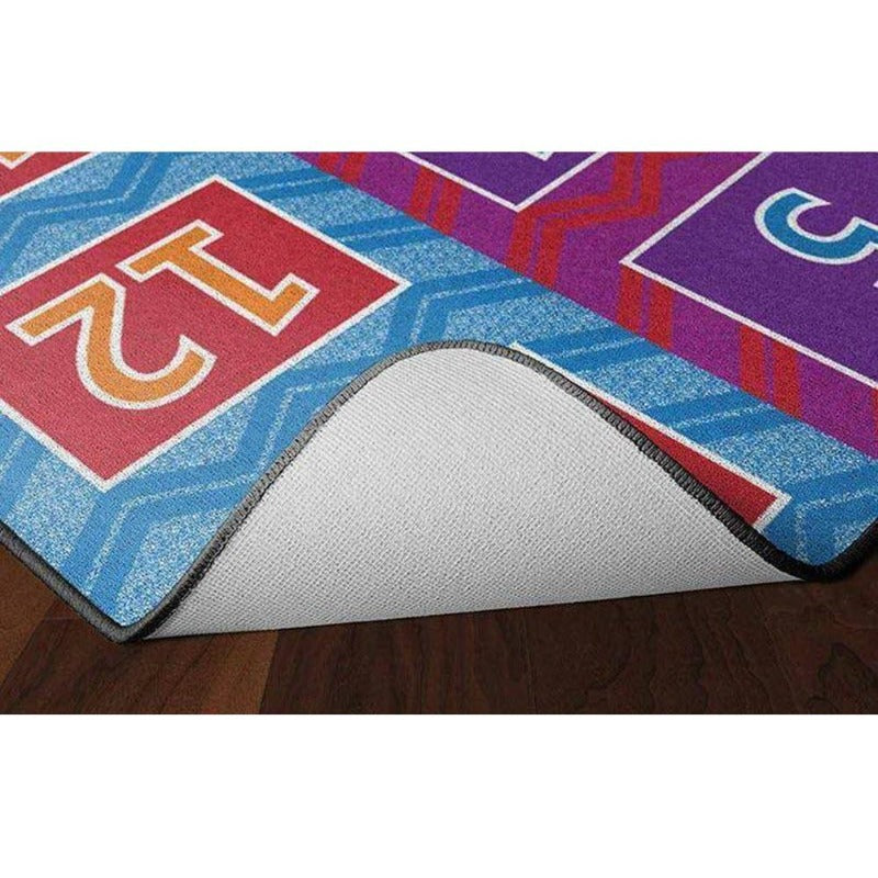 Number Chevrons Bright Seating Rug